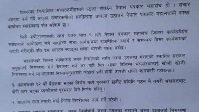 Photo of नेपाल पत्रकार महासंघ स्याङ्जाको साधारण सभा स्थगित